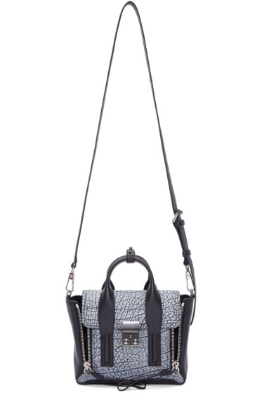 3.1 Phillip Lim - Black Speckled Mini Pashli Satchel