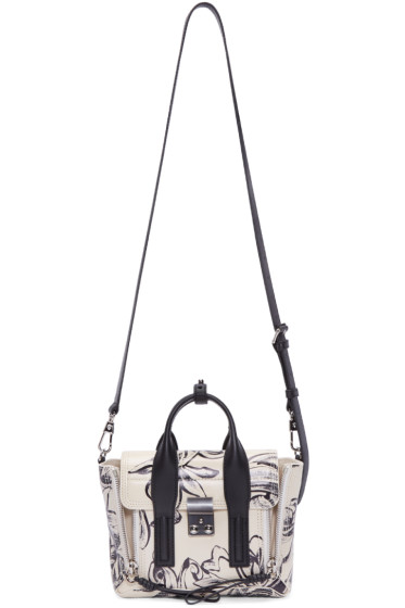 3.1 Phillip Lim - Off-White Floral Mini Pashli Satchel