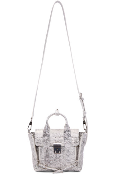 3.1 Phillip Lim - Silver Mini Pashli Satchel