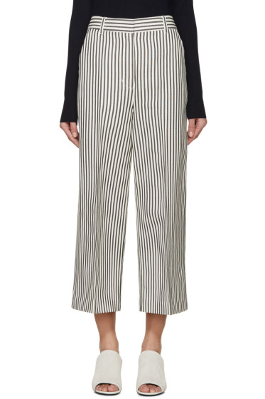 3.1 Phillip Lim - Navy & Ivory Striped Wide-Leg Trousers