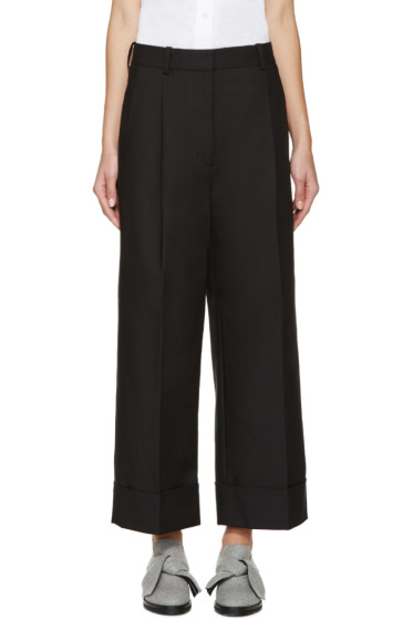 3.1 Phillip Lim - Black Cropped Wide-Leg Trousers