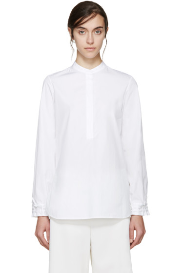 3.1 Phillip Lim - White Woven Cuffs Shirt