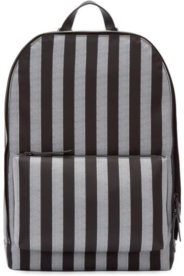 3.1 Phillip Lim - Black & White Nylon Striped 41 Hour Backpack