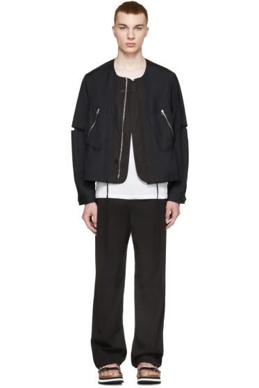3.1 Phillip Lim - Navy Wool Flight Jacket