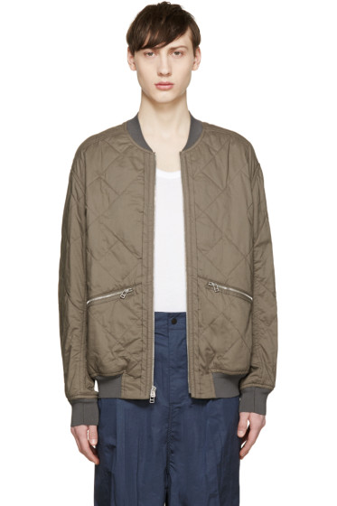 3.1 Phillip Lim - Green Quilted Bomber