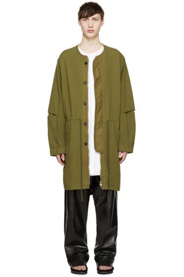 3.1 Phillip Lim - Green Long Aviator Coat