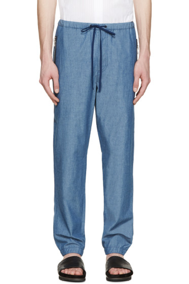 3.1 Phillip Lim - Blue Chambray Drawstring Trousers