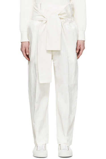 3.1 Phillip Lim - White Linen Tie Trousers