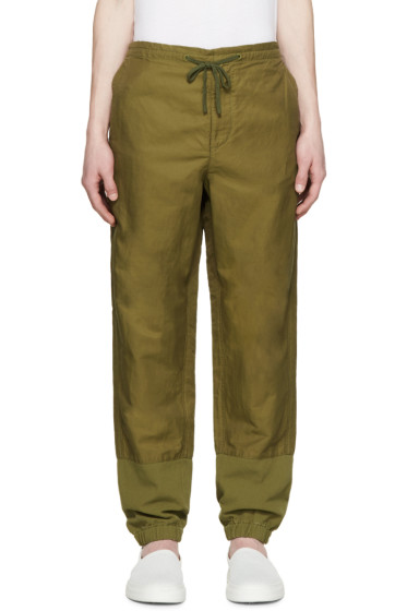 3.1 Phillip Lim - Green Nylon & Linen Trousers