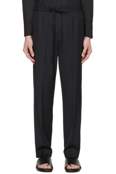 3.1 Phillip Lim - Navy Drawstring Trousers