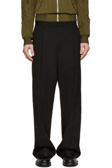 3.1 Phillip Lim - Black Pleated Wide-Leg Trousers