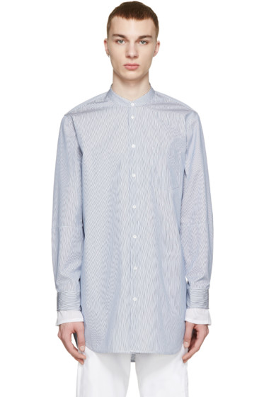 3.1 Phillip Lim - Blue & White Poplin Shirt