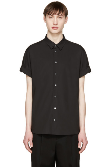 3.1 Phillip Lim - Black Poplin Fisherman Shirt