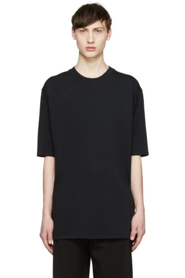 3.1 Phillip Lim - Black Dropped Shoulder T-Shirt