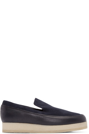 3.1 Phillip Lim - Navy Leather & Suede Merika Loafers