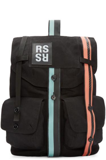 Raf Simons - Black Canvas Band Backpack