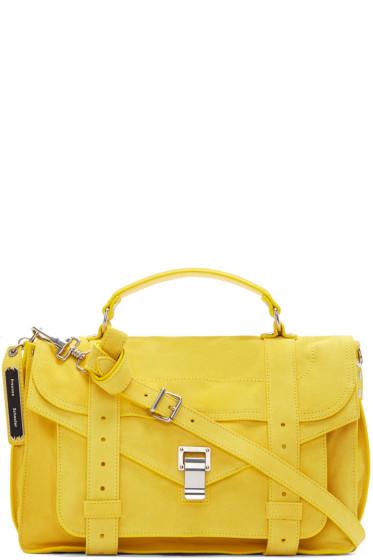 Proenza Schouler - Yellow Suede PS1 Medium Satchel