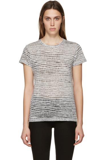Proenza Schouler - White & Black Brushstroke Shirt