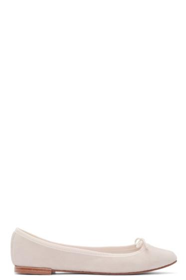 Repetto - Pink Suede Cendrillon Ballerina Flats
