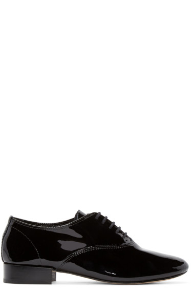 Repetto - Black Patent Leather Zizi Oxfords