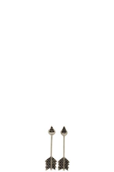 Pamela Love - Silver Shooting Arrow Earrings
