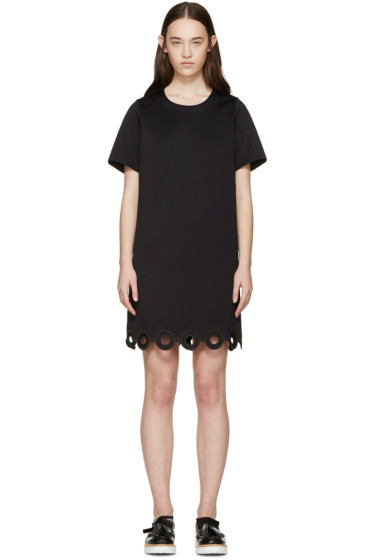 Carven - Black Lasercut Circle Dress
