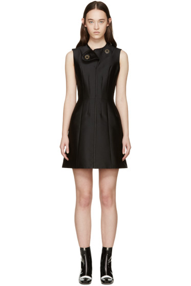 Carven - Black Satin Dress