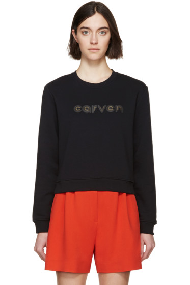 Carven - Black Metallic Logo Sweater