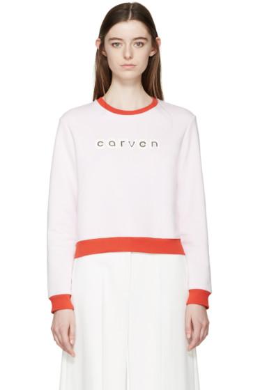Carven - Pink Logo Pullover