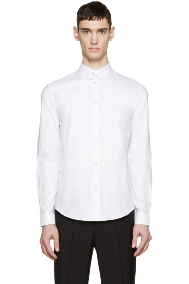 Carven - White Rounded Collar Shirt