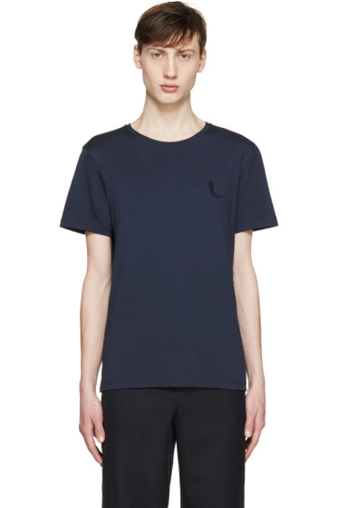 Carven - Navy Shadow Logo T-Shirt
