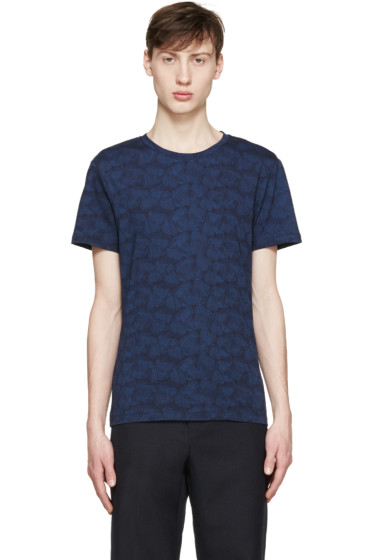 Carven - Navy Floral T-Shirt