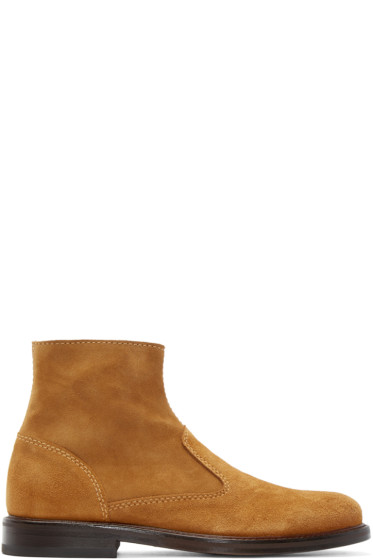 Carven - Cognac Suede Boots