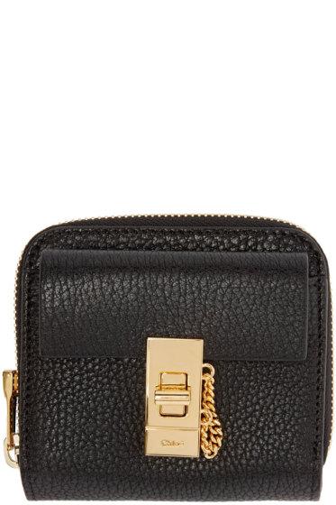 Chloé - Black Leather Square Drew Wallet
