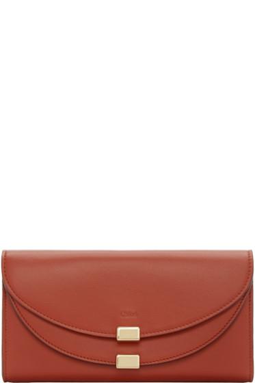 Chloé - Red Long Georgia Wallet
