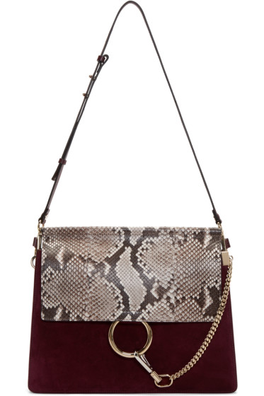 Chloé - Purple Suede Medium Faye Bag
