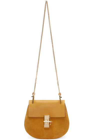 Chloé - Yellow Leather & Suede Small Drew Saddle Bag
