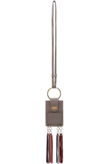 Chloé - Grey Suede Mini Bracelet Bag