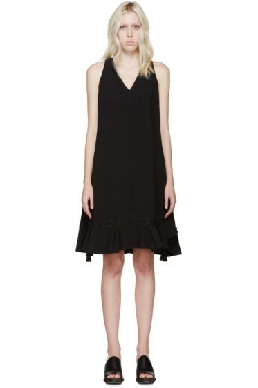 Chloé - Black Cady Tassel Dress