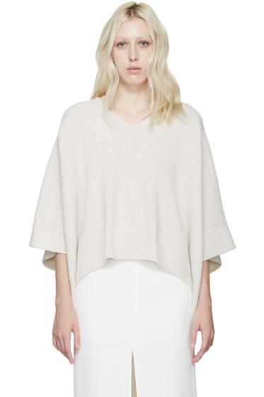 Chloé - White Cashmere Iconic Poncho