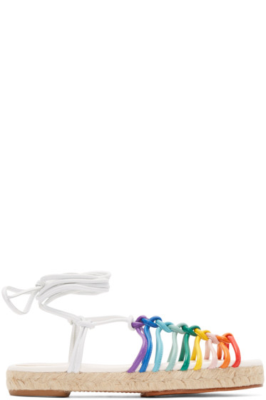 Chloé - Multicolor Leather Rainbow Sandals