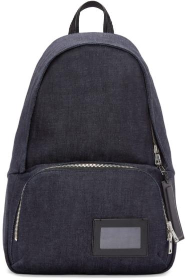 Juun.J - Indigo Denim Backpack