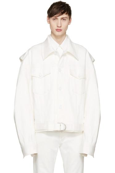 Juun.J - White Denim Jacket