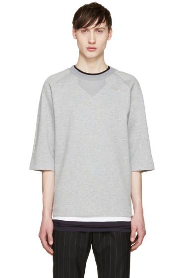 Juun.J - Grey Short Sleeve Pullover