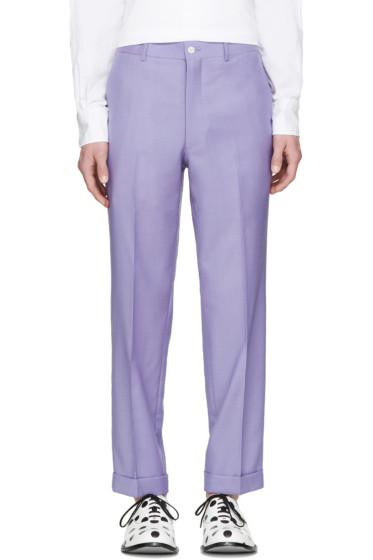 Comme des Garçons Homme Plus - Purple Wool Cropped Trousers