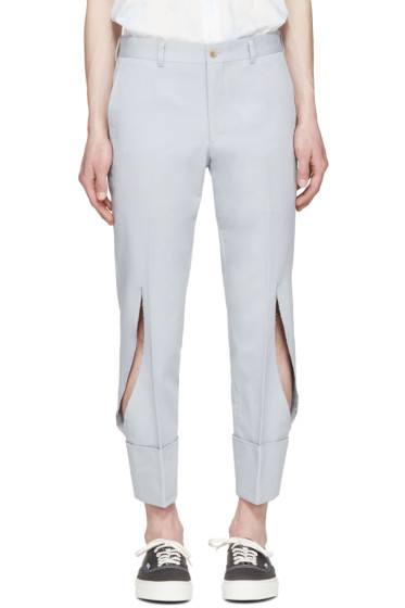 Comme des Garçons Homme Plus - Grey Twill Slit Trousers