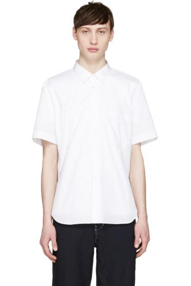 Comme des Garçons Homme Plus - White Poplin Slits Shirt