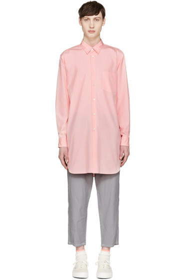 Comme des Garçons Homme Plus - Pink Poplin Backwards Shirt