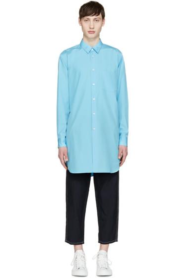 Comme des Garçons Homme Plus - Blue Poplin Backwards Shirt