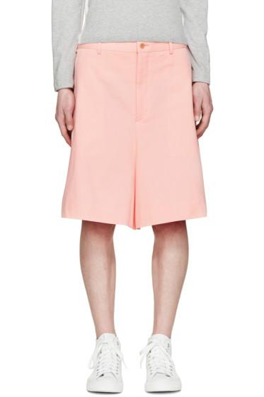 Comme des Garçons Homme Plus - Pink Twill Wide Shorts